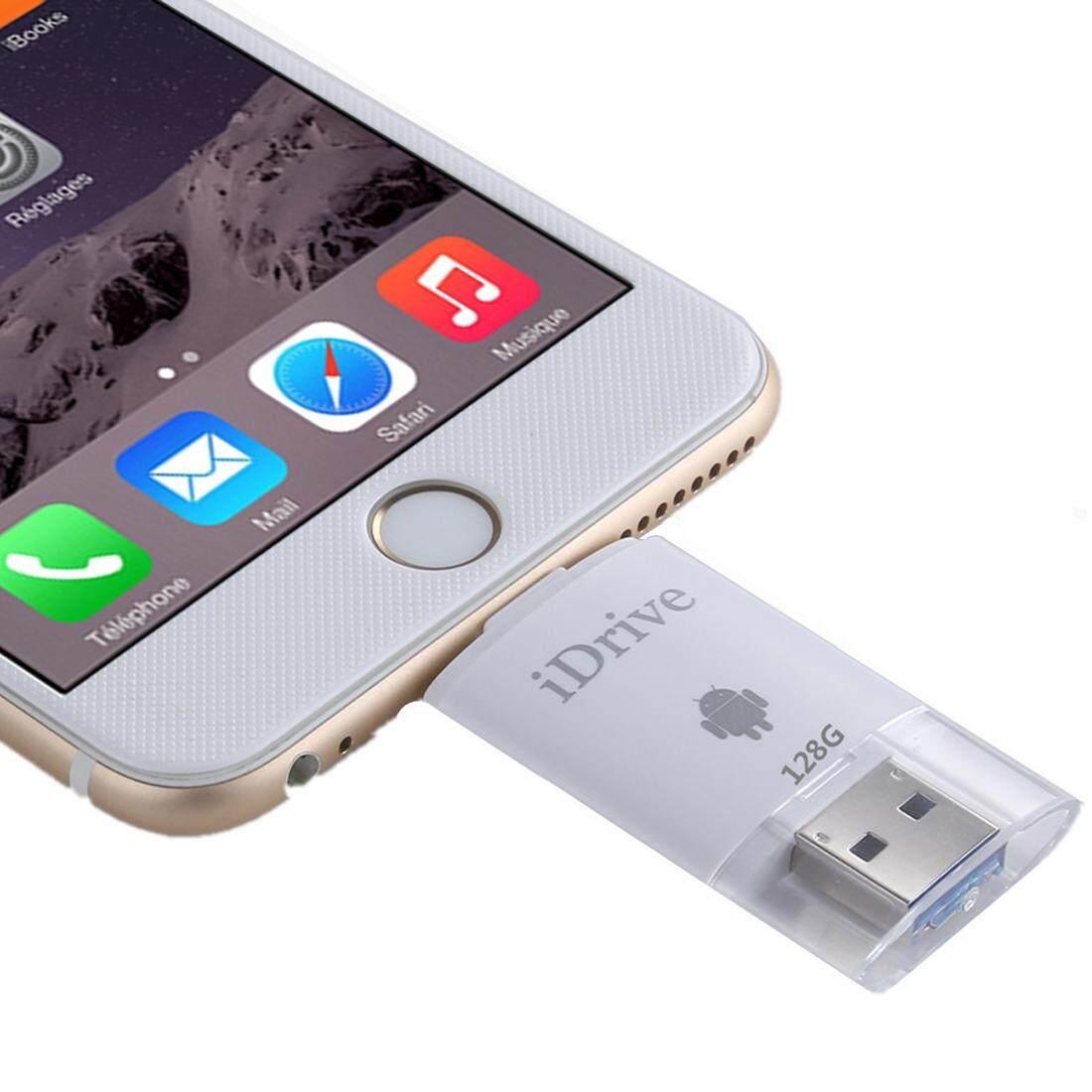 128 GB 2 In 1 Mikro USB 2.0 dan 8 Pin USB Rental IReader Flash Memory Stick untuk iPhone 6 dan 6 S iPhone 6 Plus dan 6 S Plus, Samsung Galaxy S6/S5