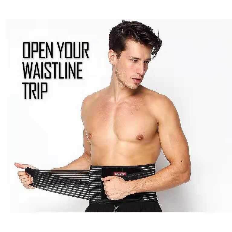 Men Waist Trainer Slim Waist Shape wear sport waist protector belt back support