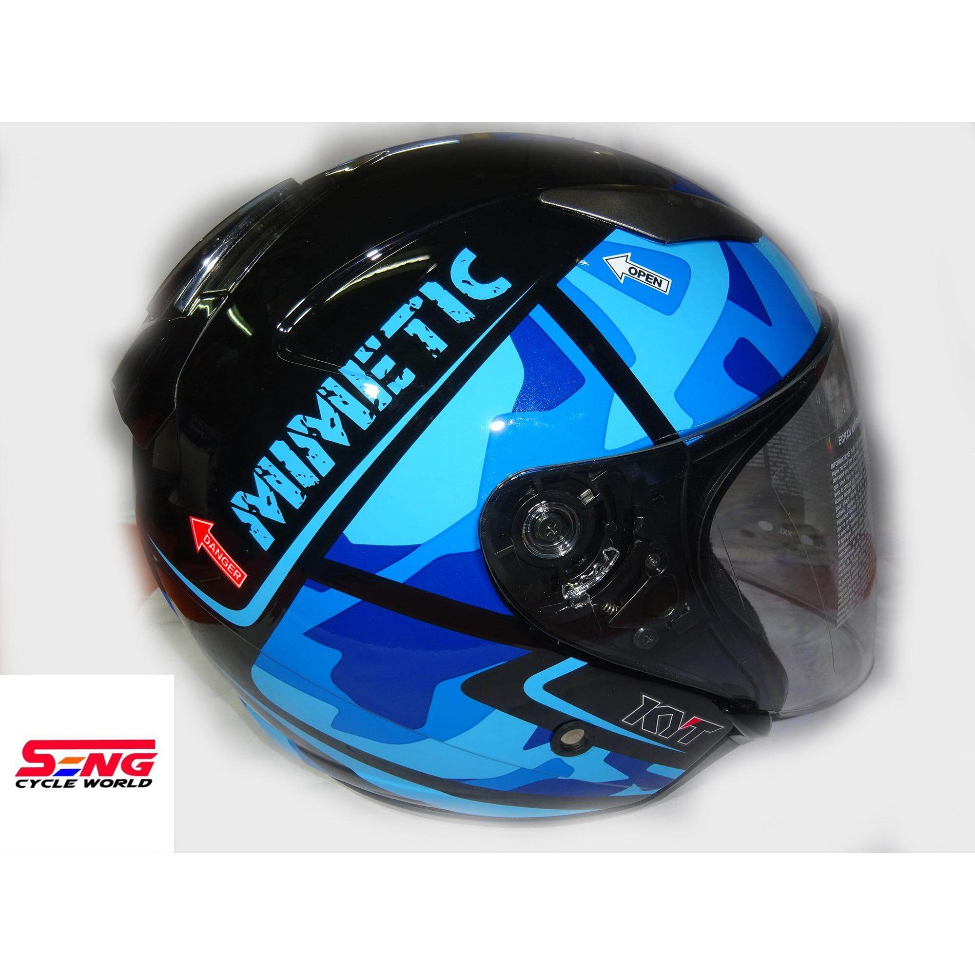 Kyt Buy At Best Price In Malaysia Flat Visor Vendetta 2 Ori Iridium Silver Helmet Hellcat Mimetic Blue