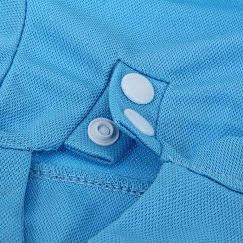 PUPPY KITTY SMALL PET COTTON POLO SHIRT CLOTHES COSTUME APPAREL (BLUE)