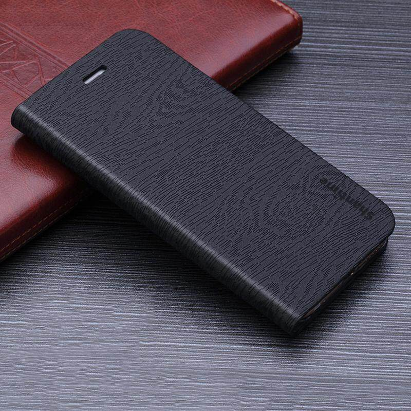 Kayu Kasus Telepon untuk Moto Rola Moto G5S Plus Casing Kulit Butir Kayu Lipat Sarung untuk Moto Rola Moto G6 plus Antik Dompet Tas Ponsel-Internasional