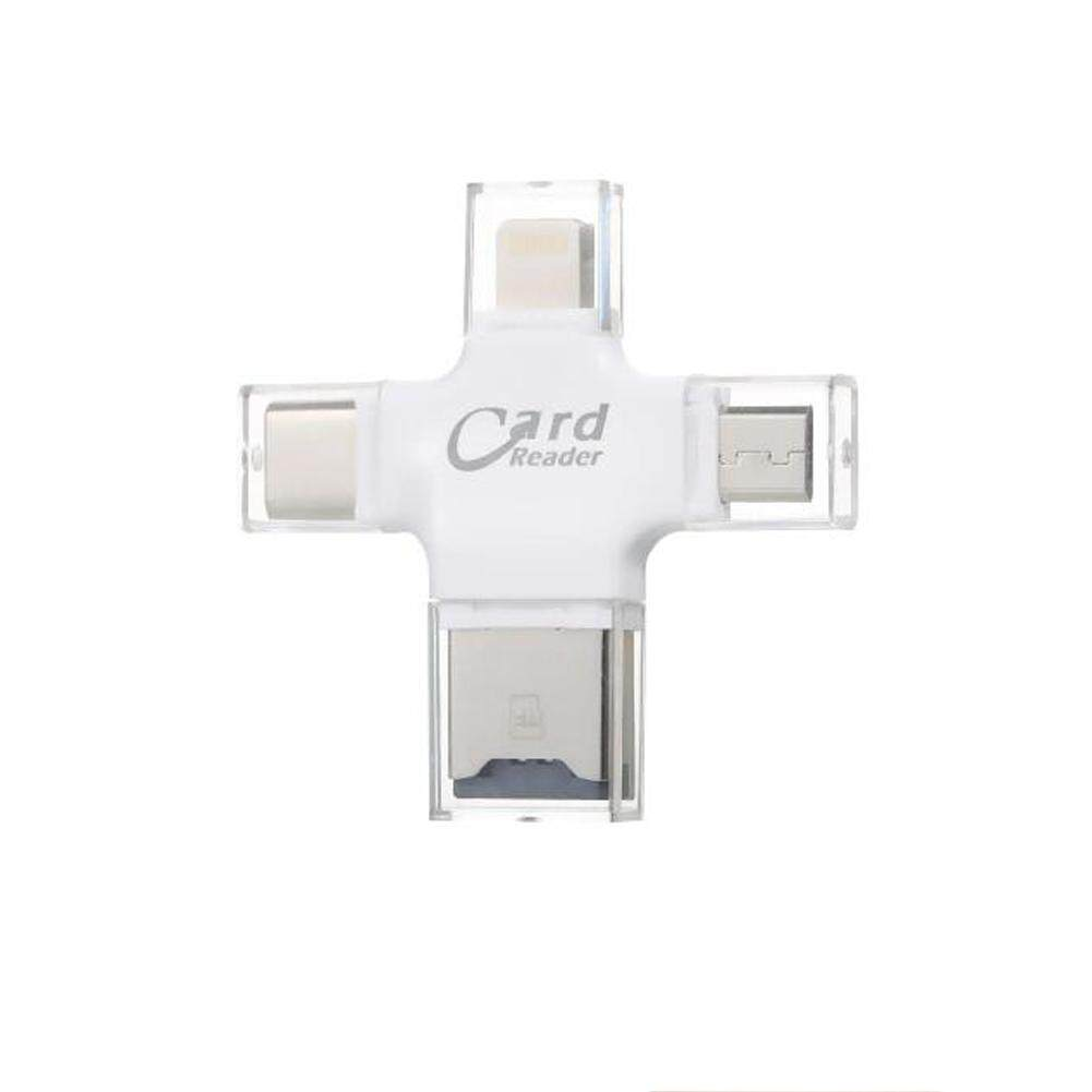 Starmall Multifunction 4 in 1 Micro SD & TF Card Reader USB Flash Drive Type-C Card Reader