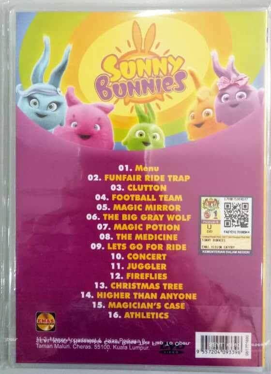 Sunny Bunnies Children Cartoons 15 Episodes DVD