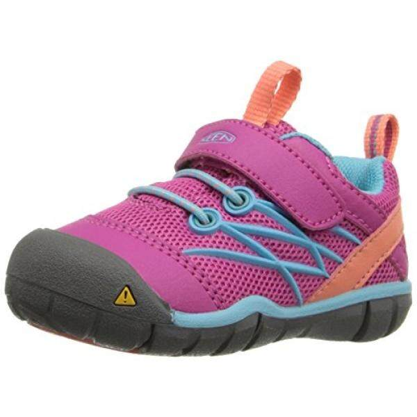 buy online 986e3 6c62c KEEN Chandler CNX Tots Childrens Shoes, Pink - Very Berry/Capri, 4 M US  Child