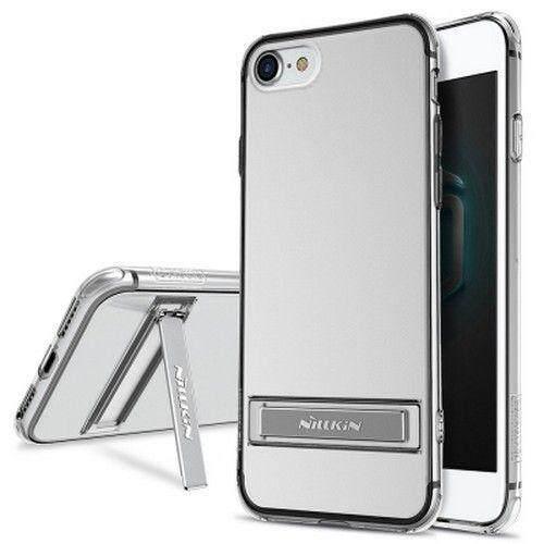 NILLKIN Yg Tahan Pukulan II Transparan Tpu Pelindung Sampul Belakang dengan Stand Penyangga untuk iPhone 7-Internasional