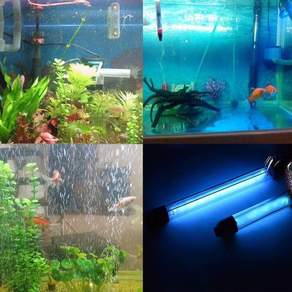 Xin Seksi UV Sterilizer Lampu Ultraviolet Penyaring Anti-Air Air Pembersih untuk Akuarium Pond Karang Ikan Tangki 6 W 1.8 M IP68 Steker AS Baru Hitam-Internasional