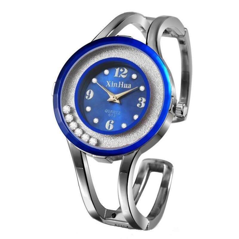 Xinhua 370 Woman Fashion Stainless Steel Quartz Wrist Watch(Dark Blue) Malaysia