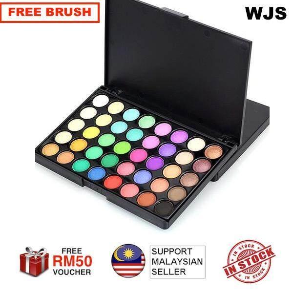 (FREE BRUSH) WJS HALAL 40 Colors Matte Luminous Eyeshadow Palette Cosmetic Eye Shadow Colorful