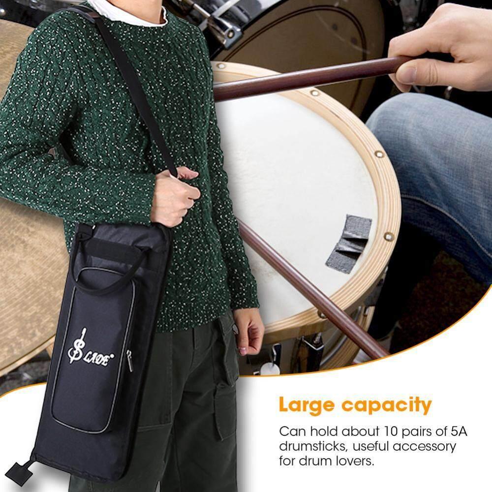 กันน้ำถุงใส่ไม้ตีกลอง Oxford ผ้าสีดำ Drum Stick กระเป๋าเก็บของกรณีผู้ถือสายคล้องไหล่ - Intl.