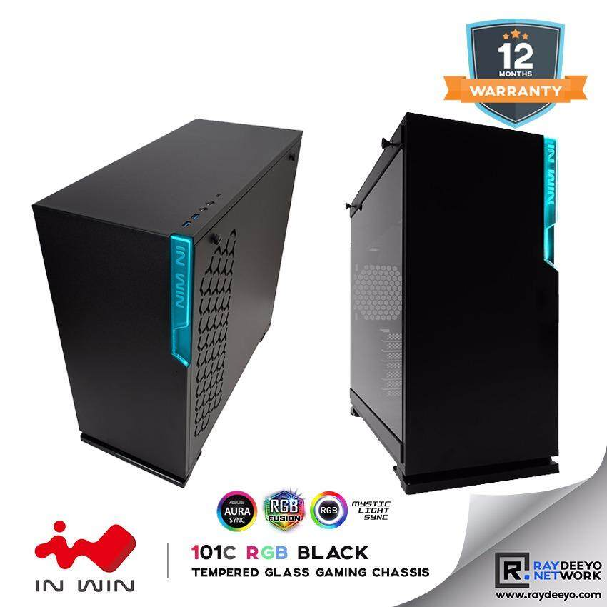 IN WIN 101C RGB (BLACK) Mid Tower Tempered Glass Gaming Chassis [ATX, Matx, Mini-ITX] Malaysia