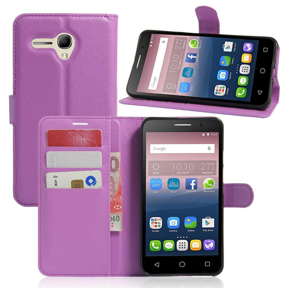 PU Leather Flip Cover Wallet Card Holder Case For Alcatel POP 3 5.5