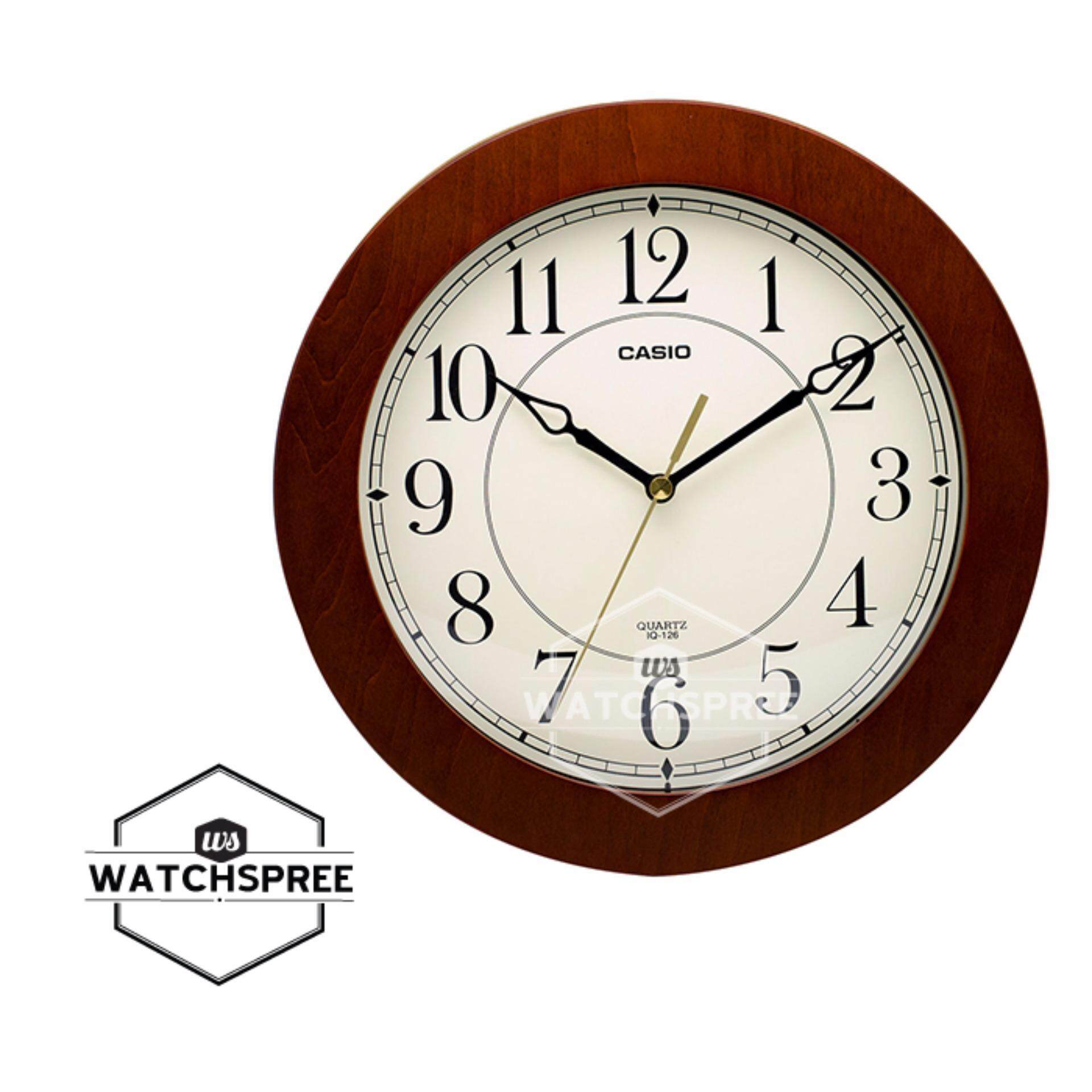 Casio Analog Quartz White Wall Clock IQ02-7R