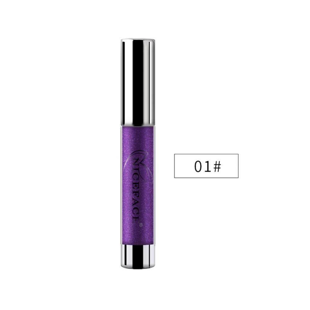 Detail Gambar NICEFACE 7 Warna Metalik Bibir Gloss Logam Liquid Lipstik Anti -Air Warna Tidak