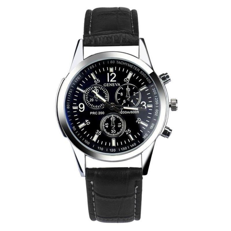 *NEW*Geneva Blue Ray Glass Luxury Leather Analog Quartz Business Watch Men Watch Malaysia