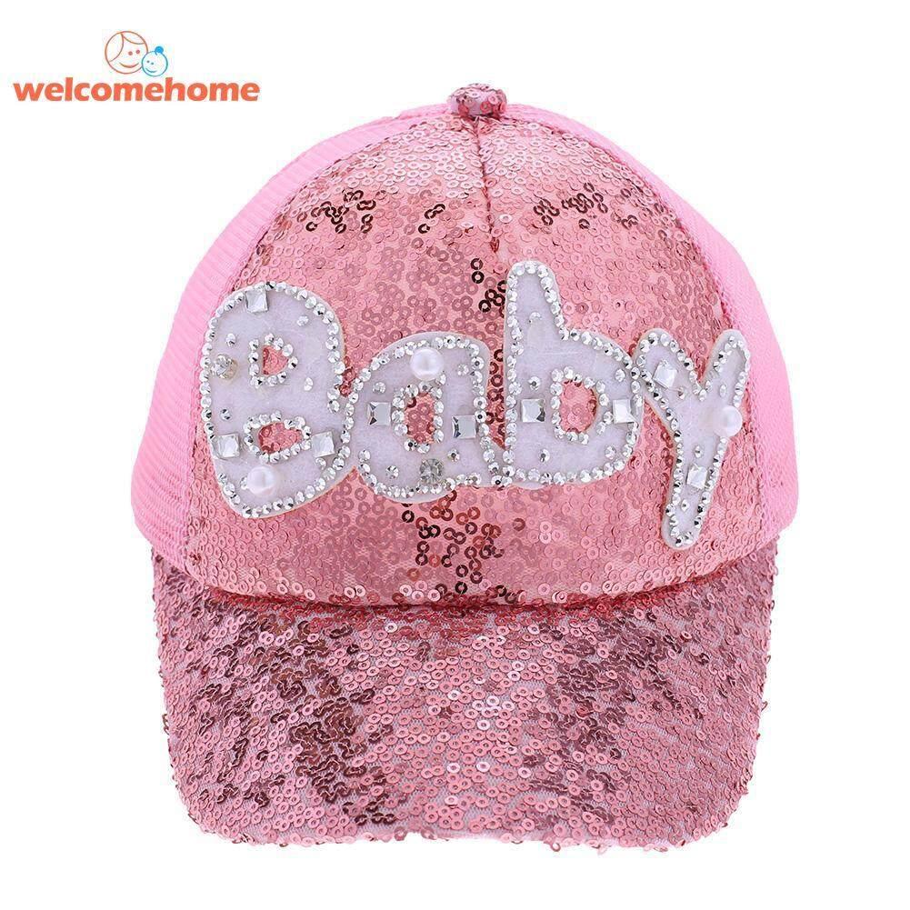 Kasual Bayi Anak-anak Matahari Topi Bisbol Huruf Bermanik-manik Anak  Laki-laki 60d2506d23