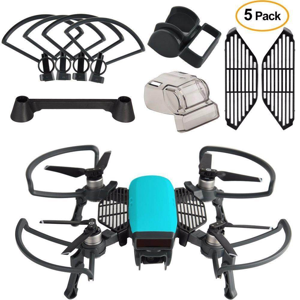 5 Pcs Accessories Kits for Dji Spark, Including 2 In 1 Propeller Guard with Foldable