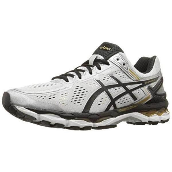ASICS Mens Gel Kayano 22 Running Shoe, Silver/Black/Gold, US