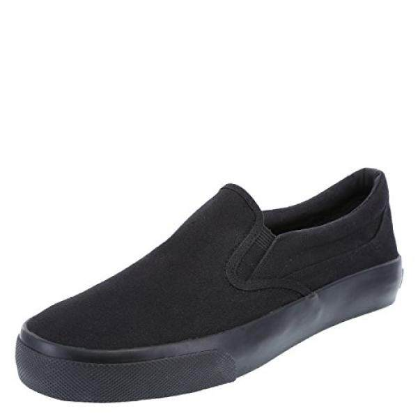 AIRWALK Pria Hitam Pria Stitch Slip-On 10 Regular-Intl