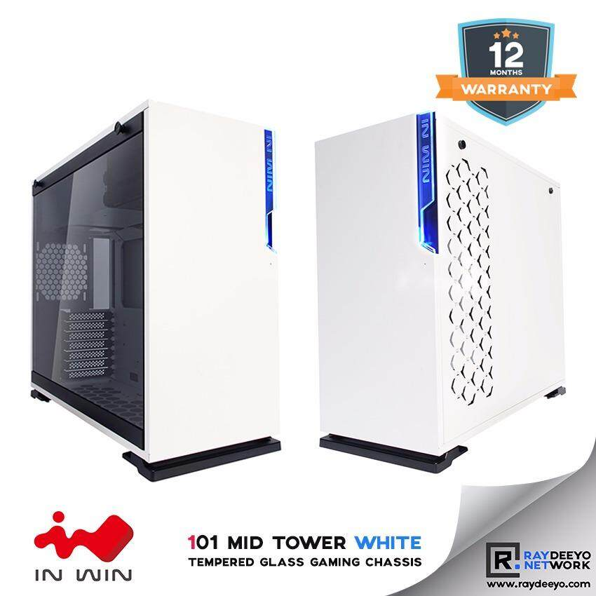 IN WIN 101 Mid Tower White Tempered Glass Gaming Chassis [ATX, Matx, Mini-ITX] Malaysia