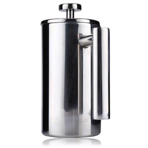 1000ML STAINLESS STEEL INSULATED COFFEE TEA MAKER WITH FILTER DOUBLE WALL (SILVER)