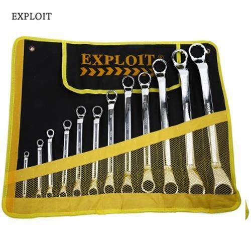 EXPLOIT HIGH QUALITY DOUBLE-END RATCHET WRENCH SET (YELLOW AND BLACK)