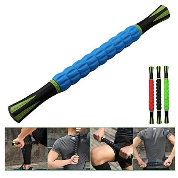 A-SZCXTOP Portabel 18 Inch Pijat Tongkat Alat untuk Olahragawan-Muscle Alat Penggulung Alat Pemijat Pereda untuk Dalam Tisu Otot kaki, kaki, Betis dan Pemulihan Kembali Nyeri Otot (Biru)-Internasional