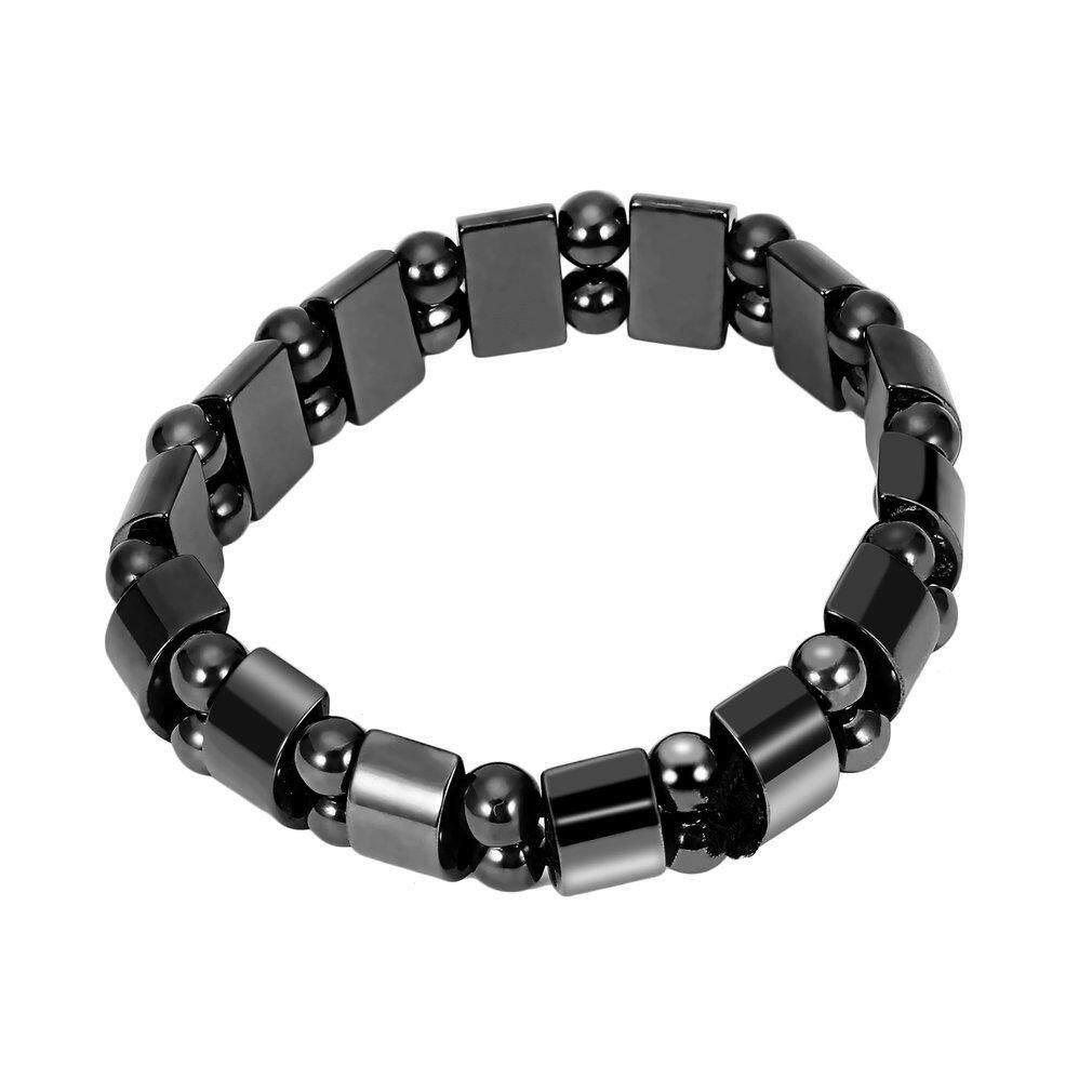 Lalove Desain Mode Hitam Hermatit Magnetik Berlapis Penyembuhan Gelang Manik-Manik Longgar Untuk Pria Pesona Wanita Perhiasan-Intl By The Lalaland.