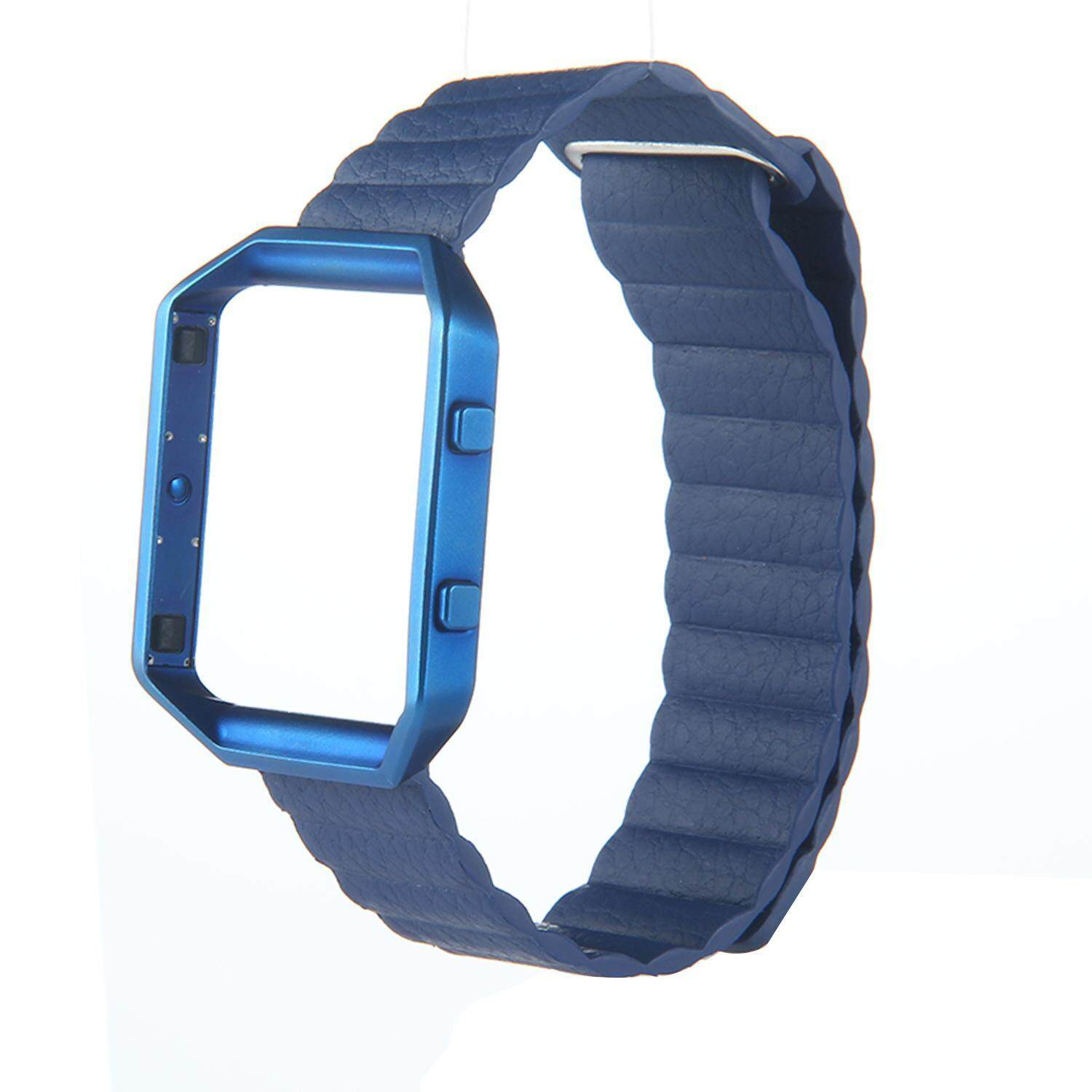 NuodunN Smart Watch Band ,Loop Style Magnetic Strap Genuine Leather Replacement Band for Fitbit Blaze