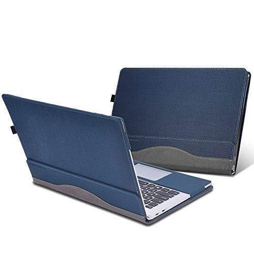 2017 Laptop untuk Lenovo ThinkPad X1 YOGA 14 Inch, dapat Dilepas Sarung Tas Buku Catatan Tablet PU Kulit Pelindung Kulit (Biru)-Internasional