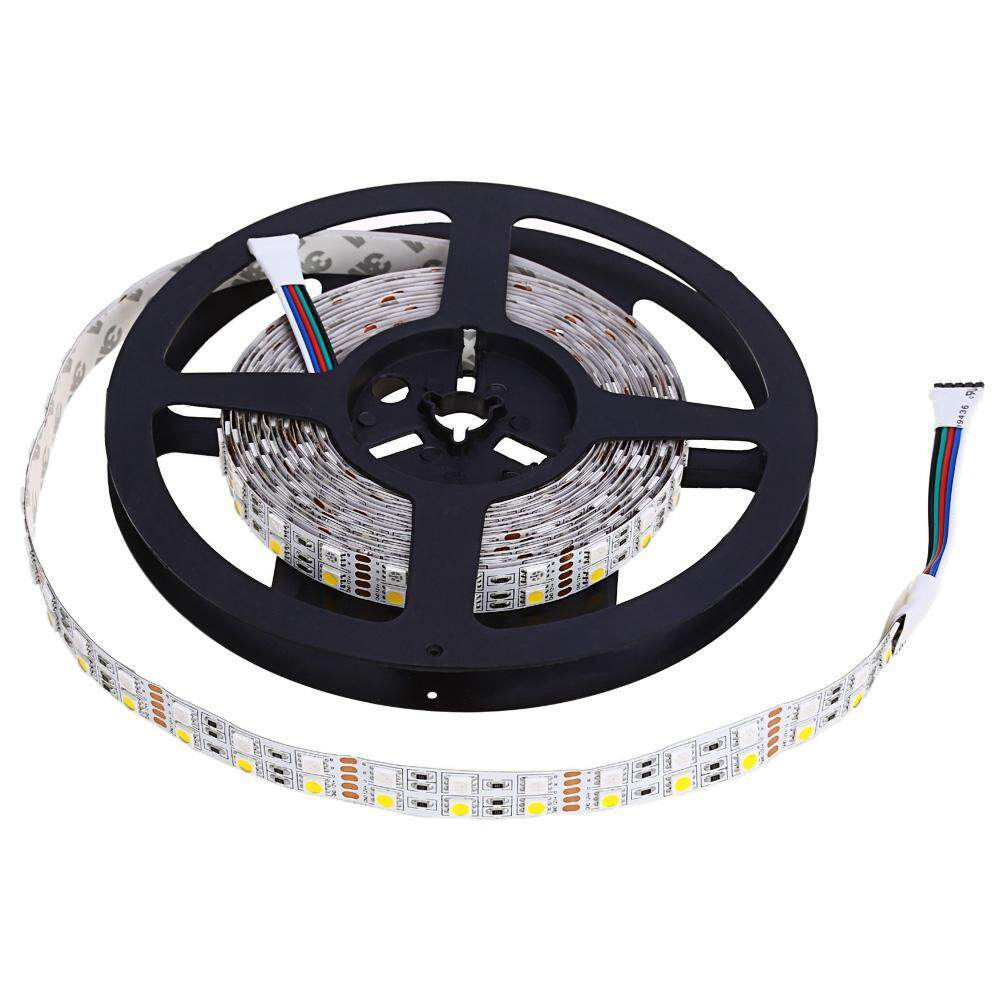 5M DOUBLE ROW 5050 SMD 600 RGB WHITE LED STRIP LIGHT FOR DECORATION (WARM WHITE LIGHT)