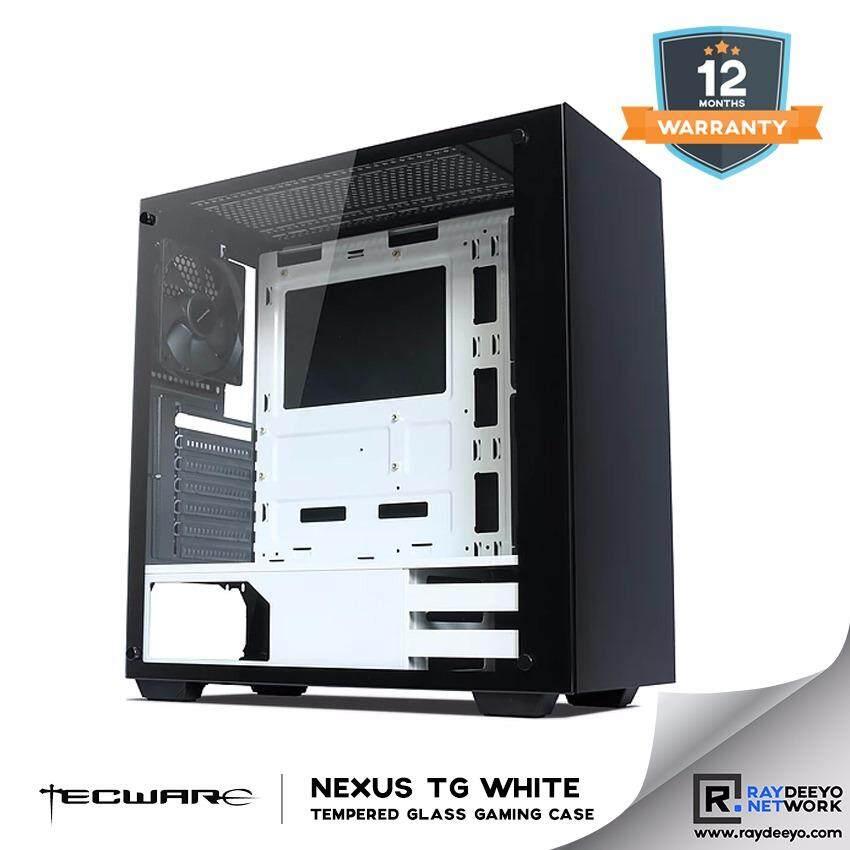 Tecware NEXUS TG WHITE Tempered Glass ATX Gaming Case [ATX, Matx, Mini-ITX] Malaysia