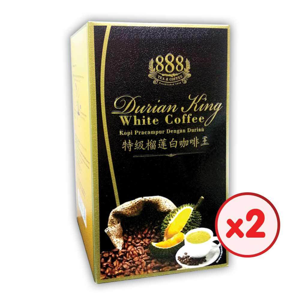 888 3 In 1 Instant Durian King White Coffee (30g x 10 Sticks x 2 Boxes)