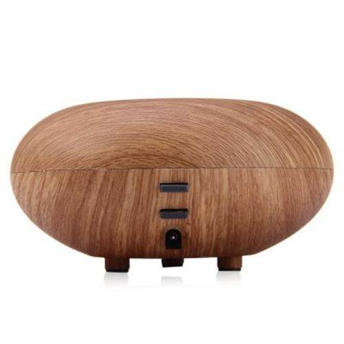 GX - 03K WOOD GRAIN QUIET AIR PURIFICATION HUMIDIFICATION ESSENTIAL OIL AROMA DIFFUSER (LIGHT BROWN)