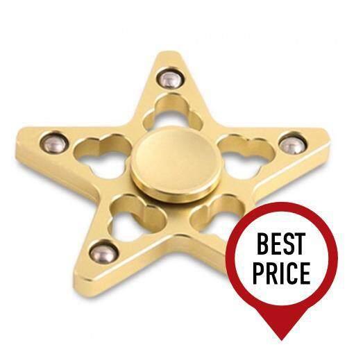 STRESS REDUCER STAR SHAPED EDC FIDGET SPINNER FINGER GYRO (GOLDEN) baby toys