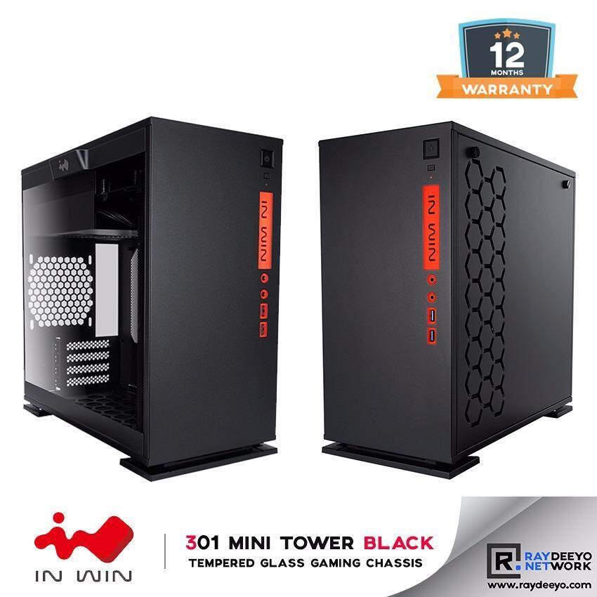 IN WIN 301 (BLACK) Tempered Glass Gaming Chassis [Matx, Mini-ITX] Malaysia