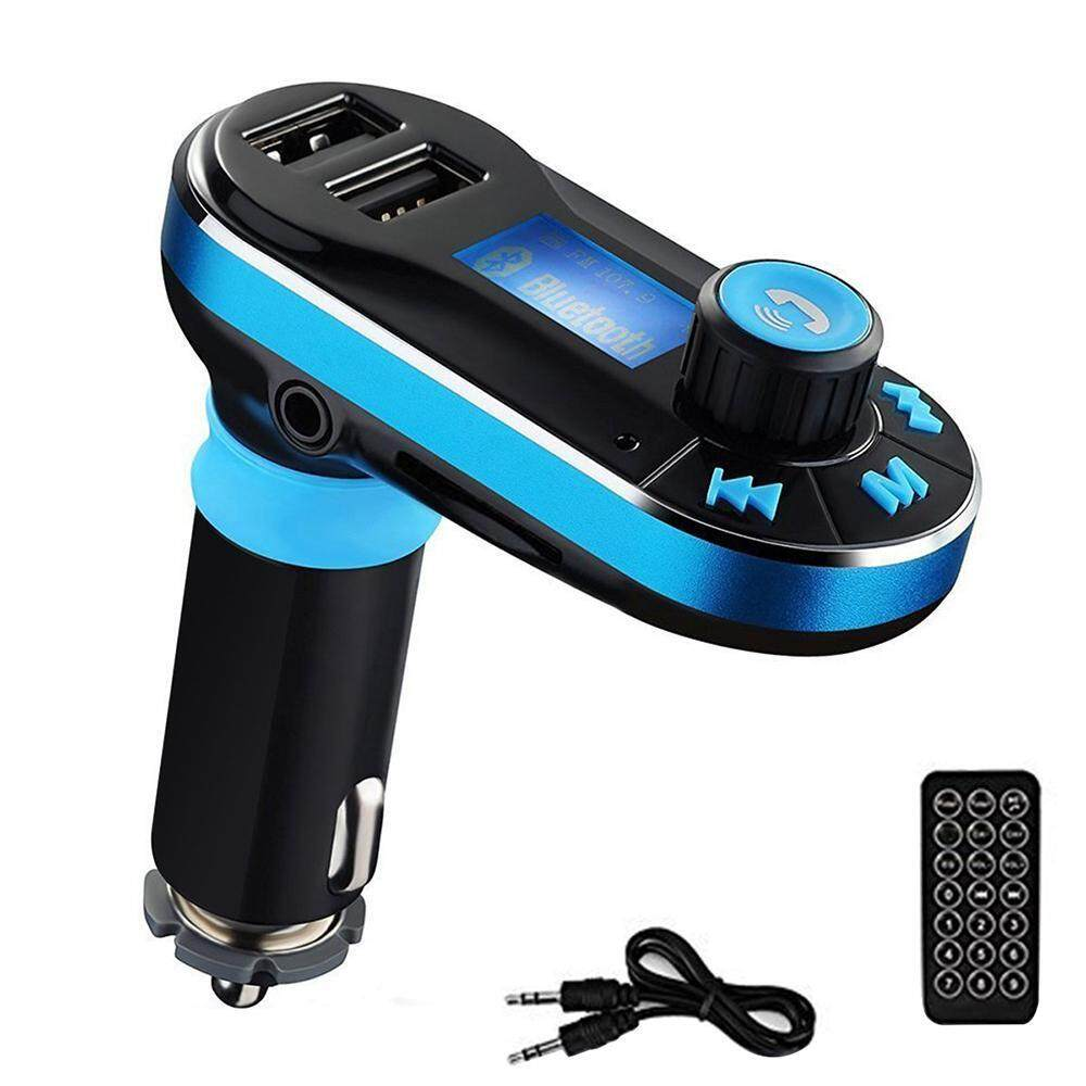 tongzhi Wireless Bluetooth Hands-free Car Kit Adapter FM Transmitter BT66 Calling, MP3 Player Dual USB Ports For Cellphones Power Battery Charge-Blue+Black - intl