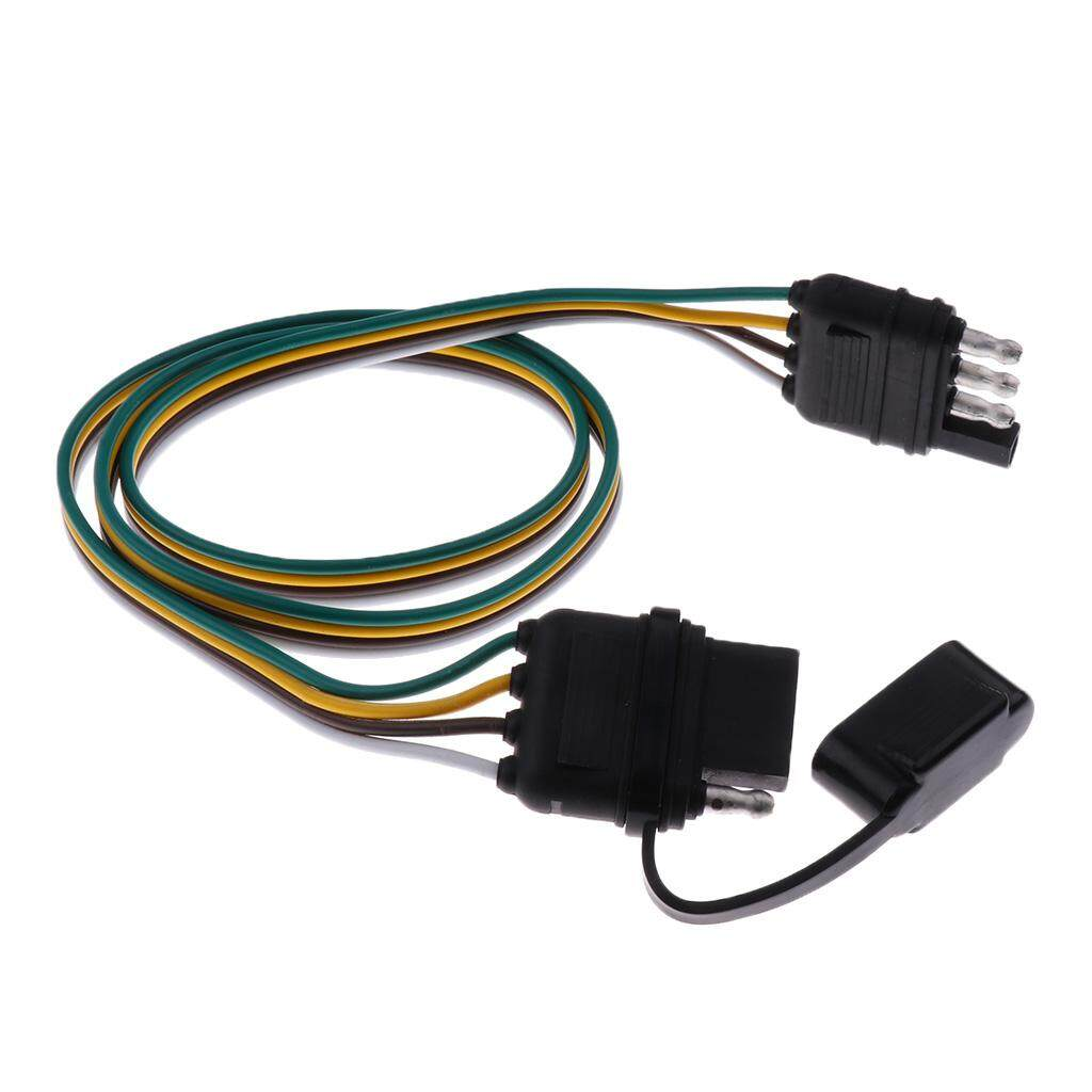 Miracle Shining Brand New Durale 80mm Trailer Light Wiring Harness 4 Lights Pin Plug 18 Awg