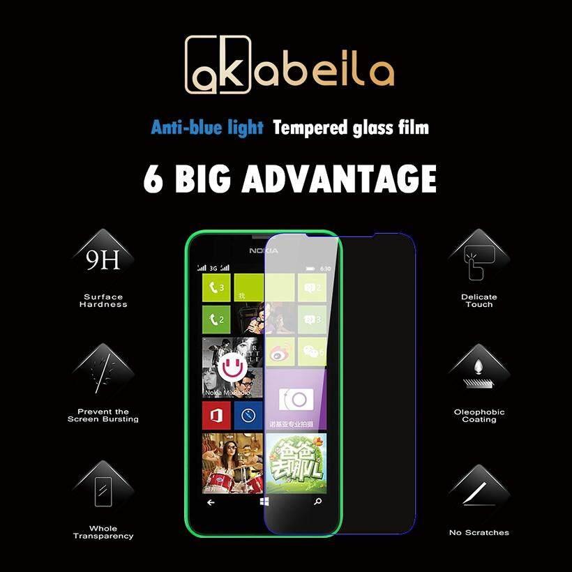 Akabeila 2 Pcs untuk Microsoft Nokia Lumia 650 N650 5.0 Inch Tinggi Quaity Kaca Antigores Smartphone Pelindung Layar Film