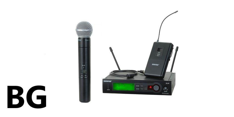 Shure SLX124/85/SM58 Series Wireless Microphone Combo System