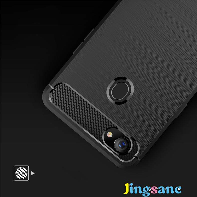 Detail Gambar For OPPO F7 [Free Ring Holder] Luxury Rugged Matte Silicone Carbon Fiber Brushed Case Soft TPU Shockproof Protective Armor Cover for oppof7 ...