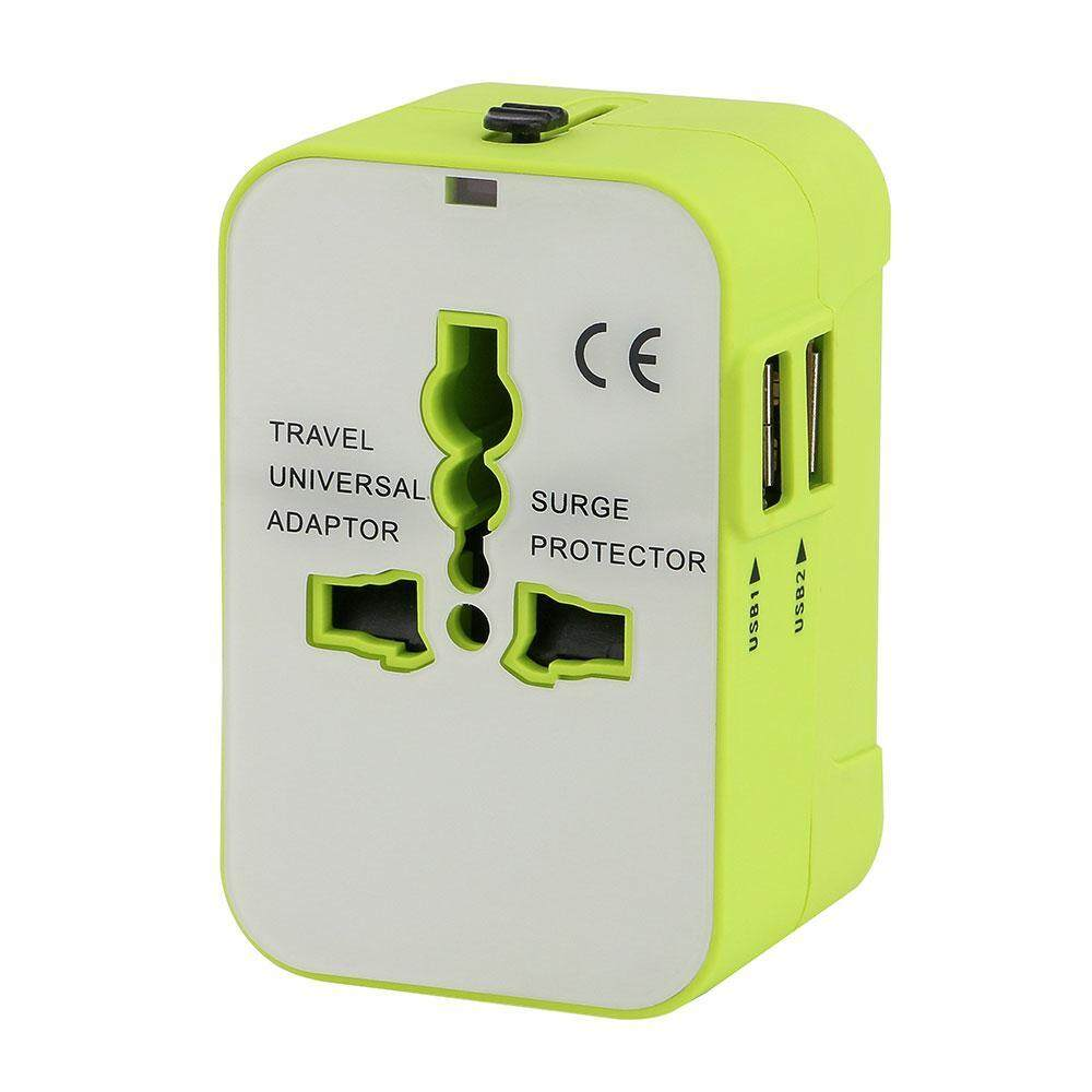 Reautiful Universal Travel Adaptor UK/USA/EU/CN Adaptor/travel Plug And Socket(Green)