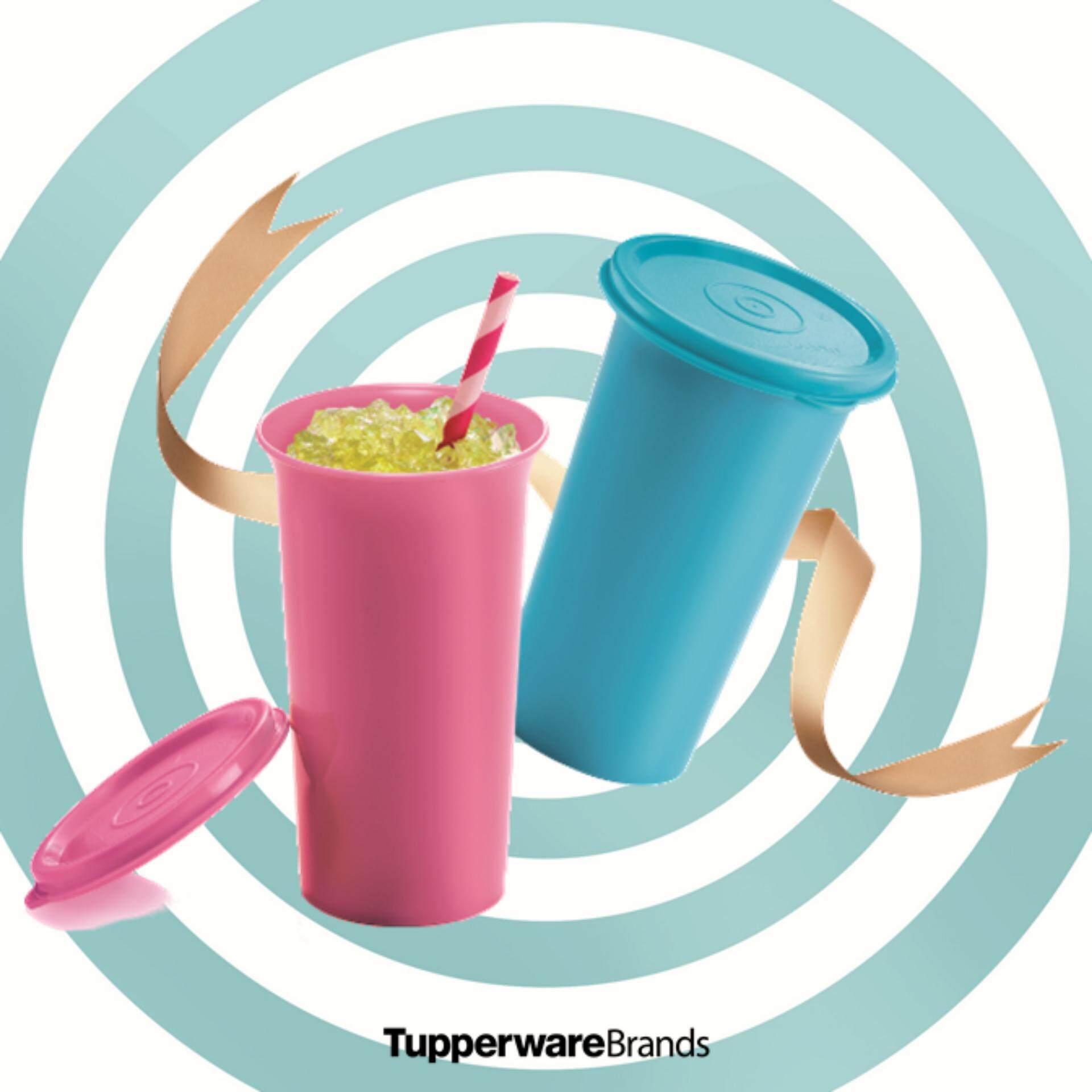Cek Harga Tupperware Giant Tumbler 1 470ml Pink Terbaru Gelas Plastik Tutup Colorfull 2xbell 310ml Blue Total 2pcs D82cm H12