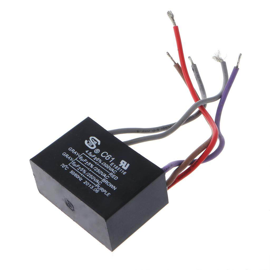Features Cbb61 1 5uf 2 250vac 50 60hz Ceiling Fan Capacitor 3 How To Wire 2wired With Motor Of A Electrical Power Relay Connecting 45uf 6uf 250v 5