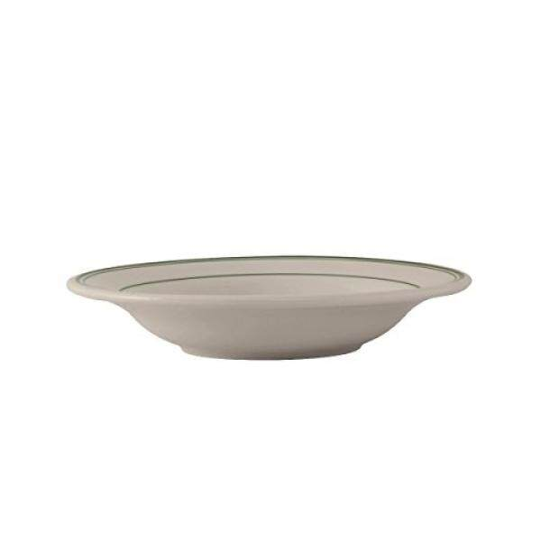 Tuxton TGB-003 Vitrifikasi Tiongkok Hijau Bay Rim Soup, 9 Oz, 8-3/4