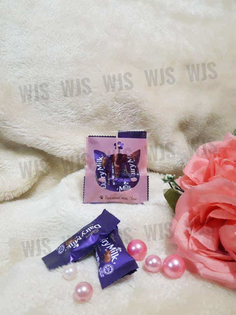 (MULTIPLE SIZES) WJS 100pcs 100 pcs Cute Pink Cat Kucing Kuih Raya Wrapper