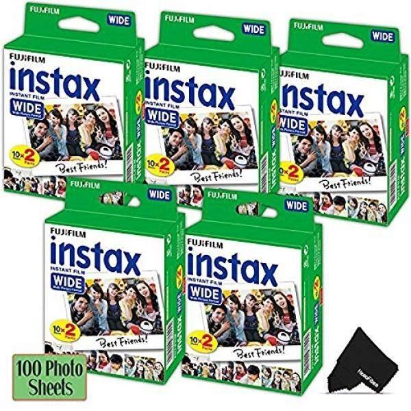 Herofiber Fujifilm Instax Lebar Instant Film 5 Pack (5X20) total 100 Lembar Foto-Kompatibel dengan Fujifilm Instax Lebar 300, 210 dan 200 Instant Kamera-Internasional