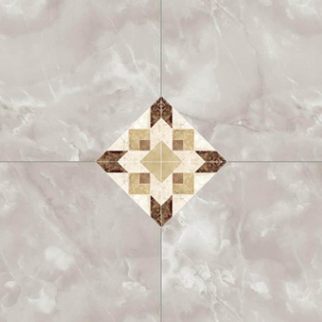 BolehDeals 20Pcs Waterproof Adhesive Wall Tile Floor Sticker Peel and Stick Living Room Bathroom Kitchen Tile