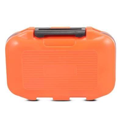 12 Compartments Waterproof Fishing Tackle Storage Box Plastic Fish Lure Bag (ORANGE)