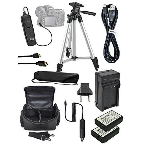 Aksesori Bundel Perlengkapan untuk Canon Rebel EOS Rebel T6 T3 T5 1200D 1300D, 1100D, EOS Kiss X50, KISS X70 Kamera, termasuk 2x LP-E10 + Pengisi Daya + Tripod + Tas + Kasus + Rana Jarak Jauh + Kabel USB-Internasional