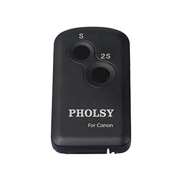 Pholsy Inframerah Nirkabel Remote Kontrol Pengatur Cahaya Kamera untuk Kamera Canon, Lensa Pengganti Canon Pengendali Jarak Jauh RC-6-Intl